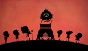 Scene form the animation : Bendito Machine III