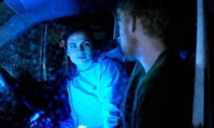 Martha (Hayley Atwell) and Ash (Domhnall Gleeson) bathed in the glow of new technology.
