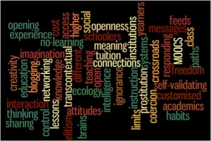 Wordle based on key terms in Gardners's talk.