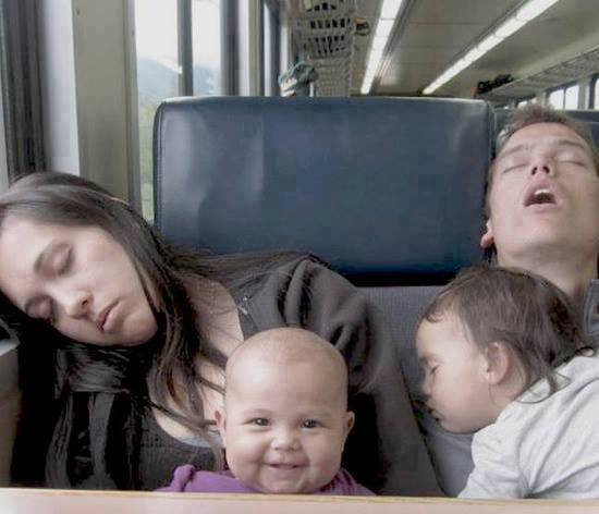 tired family