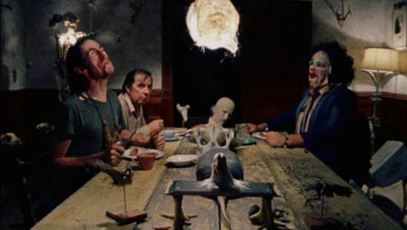 The cannibals dining at home.