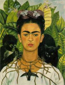 Frida Kahlo - Self Portrairt With Thorn Necklace And Hummingbird  (1940)