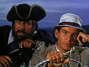 The odd couple - Peter Ustinov as Blackbeard & Dean Jones as Steve Walker.