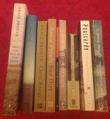 My collection of Annie Proulx's books.