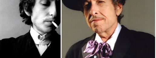 Same man - different mask. Bob Dylan - then and now.